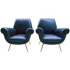 Italians 1950s Armchairs by Radice and Minotti | From a unique collection of antique and modern armchairs at https://www.1stdibs.com/furniture/seating/armchairs/