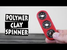DIY Easy Hand Spinner Fidget Toy from Polymer Clay - YouTube
