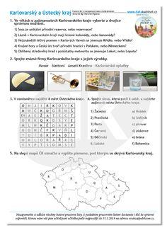Karlovarský a Ústecký kraj   datakabinet.cz Word Search, Words, Horse