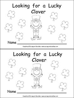This emergent reader little book will help young students practice early reading skills, while celebrating St. Patrick's Day!!    On each page, the leprechaun finds a new clover that is a different color. The book follows the pattern: The leprechaun is looking for a lucky clover. I found a _____ clover. It is not lucky.  Finally, on the last page, the leprechaun finds a green lucky clover!!