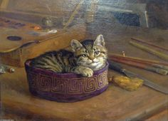 Étude d un chat de Frank Paton (1855-1909, United Kingdom)