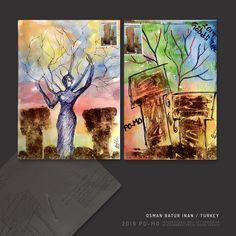 Mail Art, Night, Artwork, Painting, Work Of Art, Painting Art, Paintings, Painted Canvas