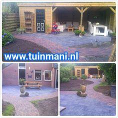 Bestrating - sierbestrating is ook een specialiteit van tuinmani. Voor een prachtige basis van uw tuin. Hier zijn 2 verschilde soorten gebruikt. Dat geeft een prachtig effect met duidelijke lijnen in de tuin! Beton, gebakken, keramisch of composiet. Geplaatst en verkrijgbaar bij tuinmani #tuinmani @Tuinmani www.tuinmani.nl