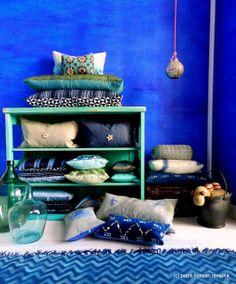 Moroccan Ultramarine Blue Inspiration  http://ranipink.blogspot.de/2013/10/new-colour-inspirationcouleurs-de.html