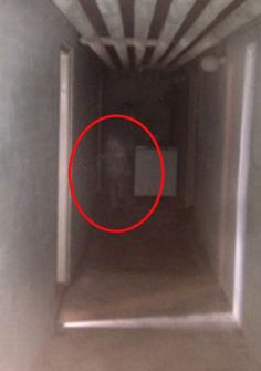 "In Norway, a group of carpenters refuse to work in a basement anymore after snapping this photo of what appears to be a ""white shadow resembling a man."""