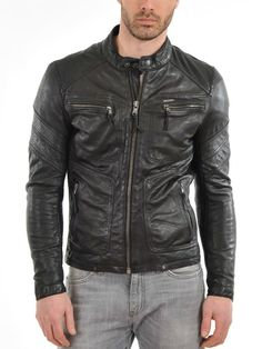 Mens Genuine Lambskin Leather Jacket Slim fit Biker Motorcycle jacket  #Handmade #Motorcycle #Perfectformotorcyclebikerandwinter
