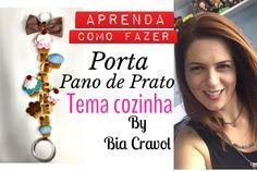 Porta Pano de Prato de Cupcake- Tema Cozinha - Biscuit - DIY _ Bia Cravol