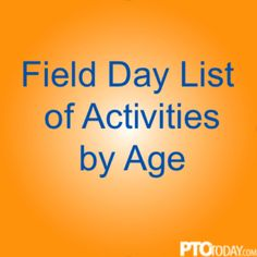 Some fun field day ideas for primary, elementary, and middle school kids.