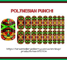 'Polynesian Punch!' This and all of my other designs are avail thru link in bio or by copying/pasting link in photo! #jamberry #jamberryaddict #jamberrynas #color #art #stainedglass #design #polynesian #style #fashion #nailart #notd #ootd #nailwraps #funnails #treatyourself #prettynails #happymom