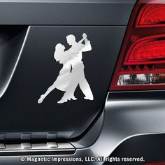 Ballroom Dancers Car Magnet. Express your love of ballroom dancing even when you're not tearing up the dance floor. This ballroom dancer car magnet is offered in vibrant colors, so you'll be sure to find one that will look great on your vehicle or refrigerator!
