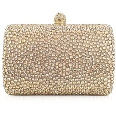 Rodo Small Crystal Evening Clutch (124.515 RUB) ❤ liked on Polyvore featuring bags, handbags, clutches, purses, bolsas, accessories, bags & co, special occasion clutches, crystal clutches and chain strap purse