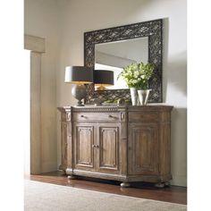 Hooker Furniture Sorella Shaped Credenza in Warm Brown Hooker Furniture