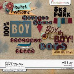 All Boy Word Art    Also at SBB: http://scrapbookbytes.com/store/digital-scrapbooking-supplies/lb_allboy_word.html