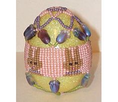 Herringbone Bunny Egg Cover Beading Pattern at Sova-Enterprises.com