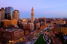 Downtown Boston, In Boston, Customs House, Rose Kennedy, Boston Skyline, Chicago, Boston Strong, Boston Massachusetts, Travel