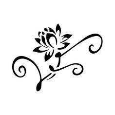 Pochoir fleur tattoo adhésif et repositionnable bs-052