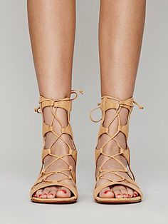 f152789fa75 lace up sandals freepeople Lace Up Gladiator Sandals