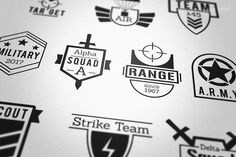 Military Army Style Badges Logos by Krukowski Graphics on @creativemarket