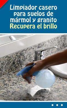 Limpiador casero para suelos de mármol y granito. Recupera el brillo #limpiador #limpieza #marmol #granito #brillo