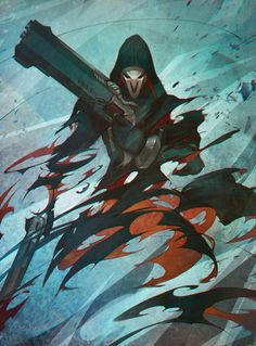 Reaper Overwatch,Blizzard more board on Overwatch Comic, Overwatch Fan Art, Faucheur Overwatch, League Of Legends, King's Quest, Game Character, Character Design, Arte Ninja, Character Art