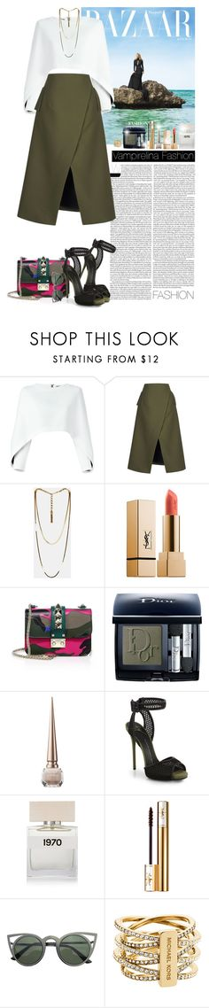 """Style is a reflection of your attitude and your personality ~"" by vampirelina ❤ liked on Polyvore featuring Balmain, Josh Goot, Lanvin, Yves Saint Laurent, Valentino, Christian Dior, Christian Louboutin, Giuseppe Zanotti, Bella Freud and Michael Kors"