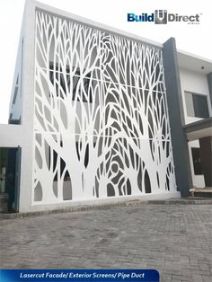 BuildDirect Africa - Africa's First and Biggest Laser Cut Building Addition Manufacturer Build Direct, Decorative Screen Panels, Building An Addition, Stairs Window, Laser Cut Panels, Exterior Cladding, Steel Panels, Building Facade, State Art
