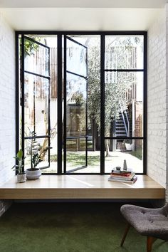 Beautiful architecture and minimalist design Interior Architecture, Interior And Exterior, Beautiful Architecture, Casa Loft, Bay Window, House Rooms, Home Renovation, My Dream Home, Future House