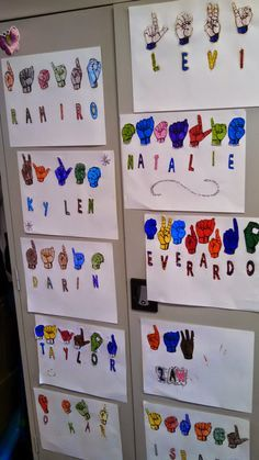 American Sign Language Finger Spelled Names. Great for any class!