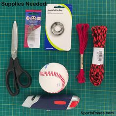 diy baseball softball leather keychain supplies needed
