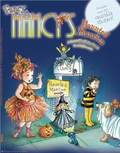 With FANCY NANCY'S FASHION PARADE! REUSABLE STICKER BOOK, kids can help plan a Fancy Nancy halloween! Browse all Fancy Nancy titles: http://harpercollinschildrens.com/Search/SearchResults.aspx?TCId=100&ST=1&SKw=fancy%20nancy