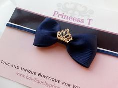 Hey, I found this really awesome Etsy listing at https://www.etsy.com/listing/177338662/babygirls-hair-clipheadband-mini-navy