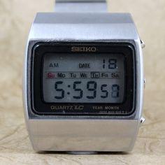 Retro Digitaluhr  Vintage Herren Seiko Quartz von ASecondTime, $299.00