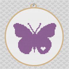 Butterfly Silhouette Cross Stitch PDF Pattern 001 by kattuna, $3.50
