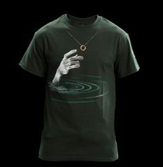 The Lord of the Rings: My Precious T-Shirt - Dark Green $29.99  The pale complexion of the hand of Gollum as it reaches out for the Precioussss hanging from a chain around your neck.    Wear it and get some idea of how Frodo must have felt during that long journey to Mordor.    A great quality T-shirt, designed by The Lord of the Rings conceptual designer Daniel Falconer.    Available in a unisex cut up to 3XL: