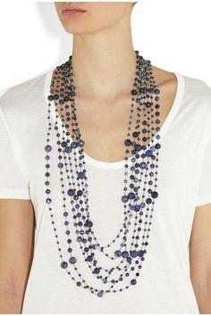 Rosantica | Pegaso agate and sodalite necklace | NET-A-PORTER.COM