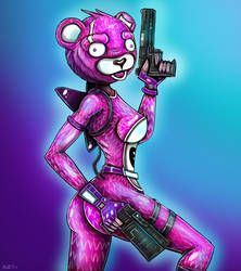 Pink Teddy Bear Fortnite By Yeahmanproductions Pink Teddy Bear Bear Fortnite