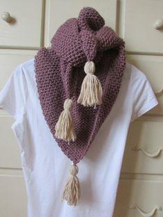 Crochet Shawl, Knit Crochet, Knitting Projects, Crochet Projects, Crochet Clothes, Tassel Necklace, Cowl, Embroidery, Handmade