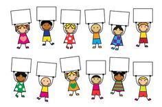 Cartoon kids in bright clothes with placards in hand illustration, . Deer Cartoon, Happy Cartoon, Cartoon Images, Cartoon Kids, Cute Cartoon, Cute Wallpaper Backgrounds, Cute Wallpapers, Indian Baby Names, Kids Background