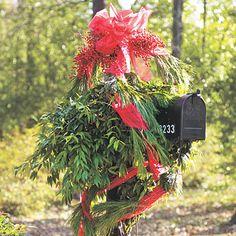 Drape Your Mailbox - 101 fresh christmas decorating ideas - Southern Living