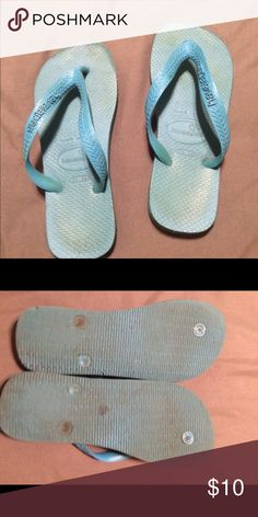 Havianas turquoise Gently worn bright color size 35-36 Havianas Shoes Sandals