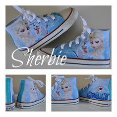 3a60fb55a1c3 frozen elsa and olaf converse Custom Converse Shoes