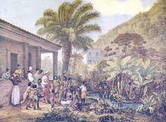 Índios em uma fazenda. Minas Gerais, 1824. Ilustração de Johann Moritz Rugendas (domínio público)