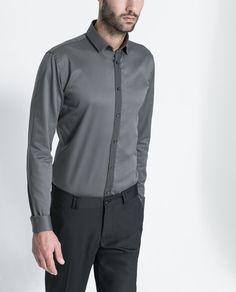 Image 1 of TWILL SHIRT WITH GROSGRAIN SASH from Zara