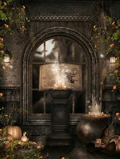Beautiful witch ritual place