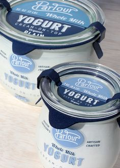 Parlour is a conceptual luxury brand that produces artisan crafted dairy products inspired by the traditional milkman delivery system. Each product is packaged