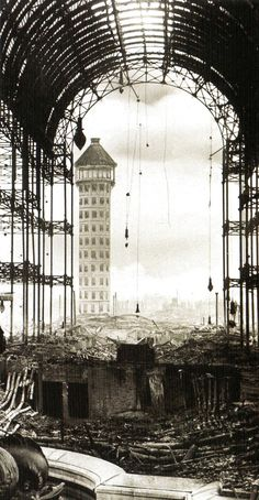 Crystal Palace after the bombing of London.