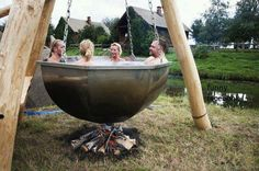 DIY outdoor hot tub