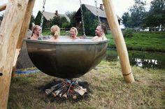 Cauldron Hot Tub, kinda scary...
