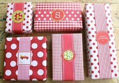 Love red and white christmas wrap!