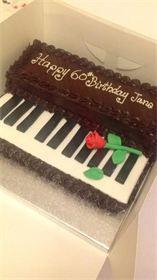 Fresh cream piano cake with rose